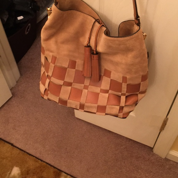 Michael Kors Handbags - Mkors authentic suede with leather bag